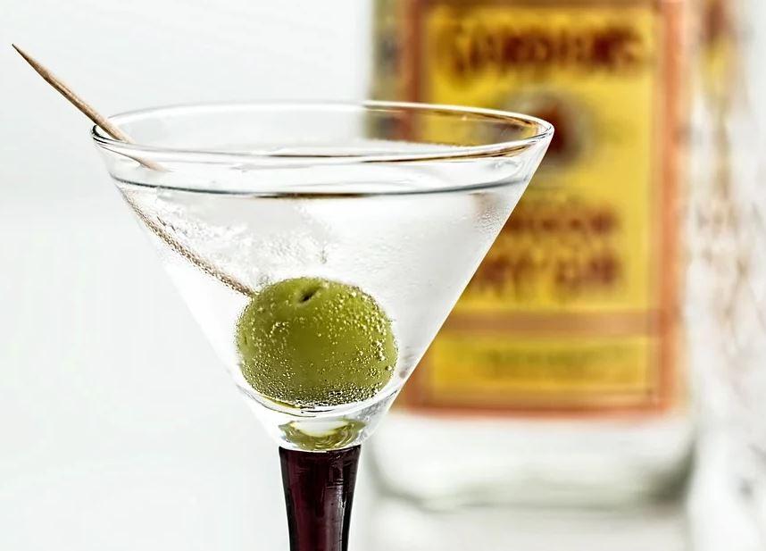 Schick angerichteter Gin